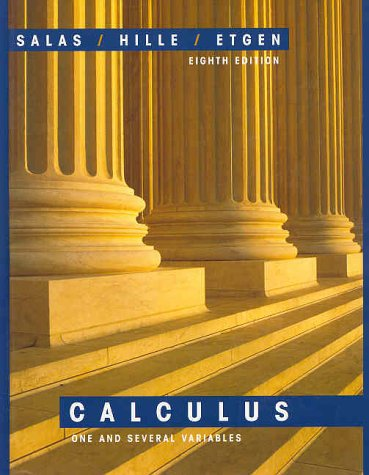 9780471316596: Salas and Hille's Calculus: One and Several Variables - eighth edition
