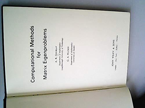 9780471319153: Computational Methods for Matrix Eigenproblems