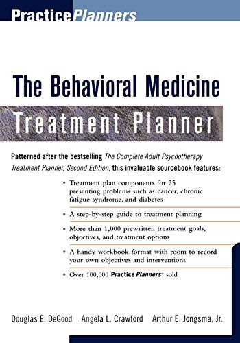 9780471319238: The Behavioral Medicine Treatment Planner (PracticePlanners)