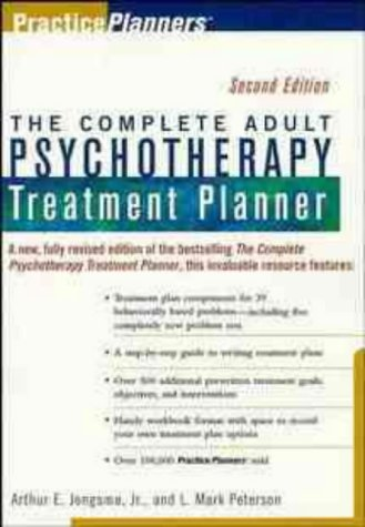 9780471319245: Complete Adult Psychotherapy Treatment Planner (PracticePlanners®)