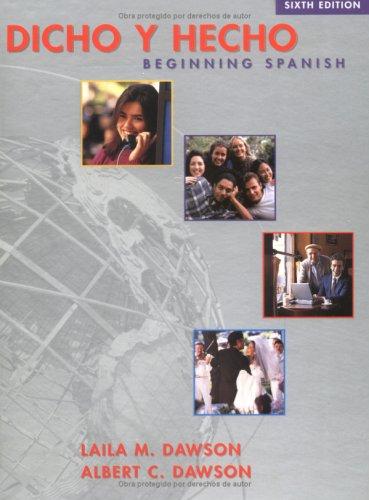 9780471323532: Dicho y Hecho: Beginning Spanish, 6th Edition