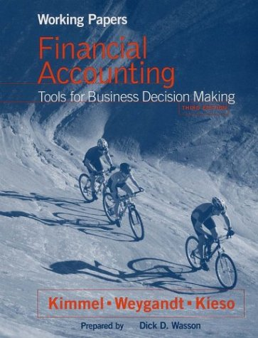 9780471325123: Working Papers, Financial Accounting, Tools for Business Decision Making