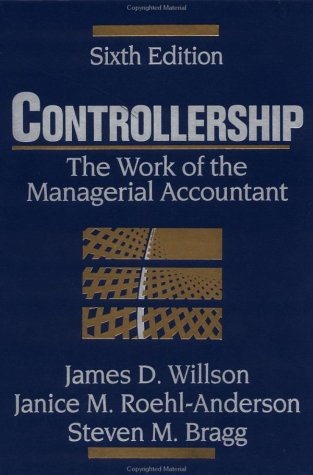 9780471326182: Controllership: The Work of the Managerial Accountant