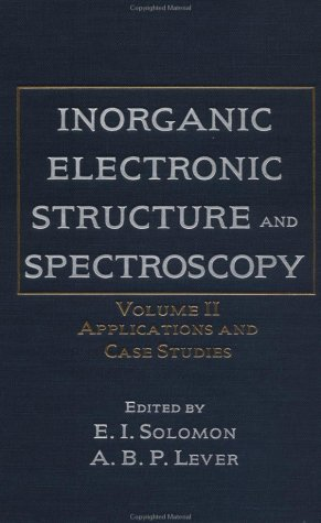 Inorganic Electronic Structure and Spectroscopy: Applications and