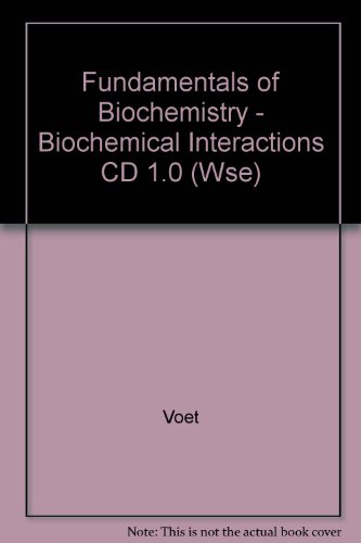 9780471327141: Fundamentals of Biochemistry: Biochemical Interactions CD-ROM