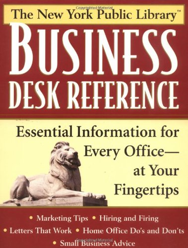 9780471328353: New York Public Library Business Desk Reference