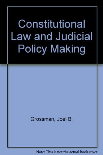 9780471328490: Constitutional Law and Judicial Policy Making