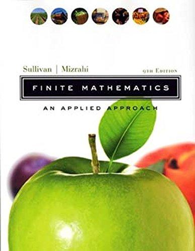 9780471328995: Finite Mathematics: An Applied Approach