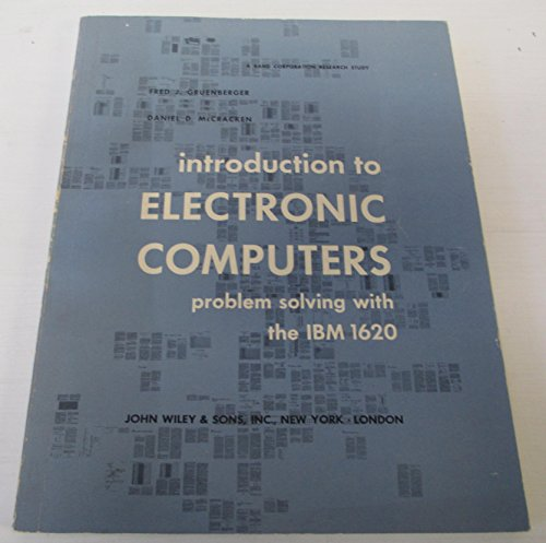 9780471329077: Introduction to Electronic Computers, Problem Solv