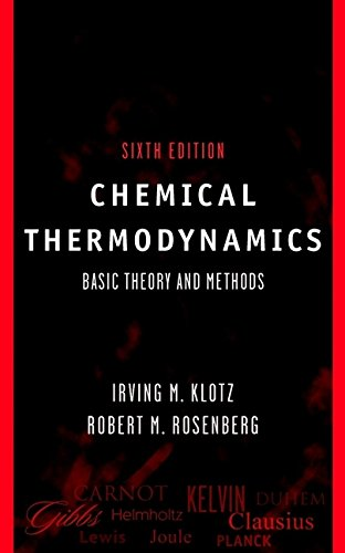 9780471331070: Chemical Thermodynamics: Basic Theory and Methods, 6th Edition