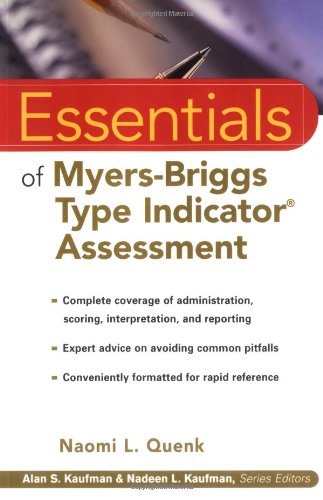9780471332398: Essentials of Myers-Briggs Type Indicator Assessment (Essentials of Psychological Assessment)