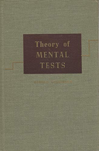 9780471333302: Theory of Mental Tests