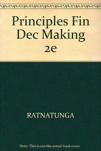 9780471335993: Principles Fin Dec Making 2e