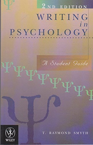 9780471337584: Writing in Psychology: A Student Guide