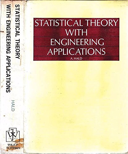 9780471340607: Statistical Theory with Engineering Applications