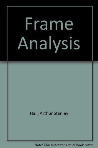 Frame Analysis: Hall, Arthur Stanley,