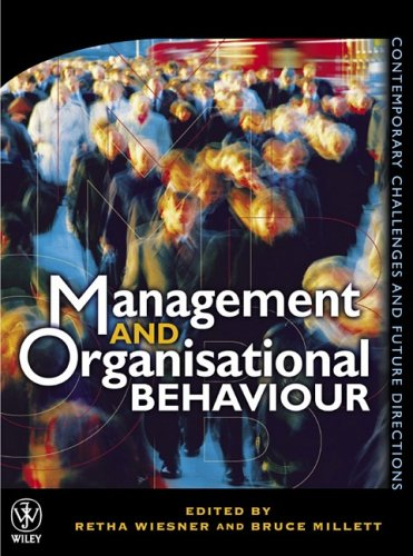 9780471343028: Management and Organisational Behaviour: Contemporary Challenges and Future Directions