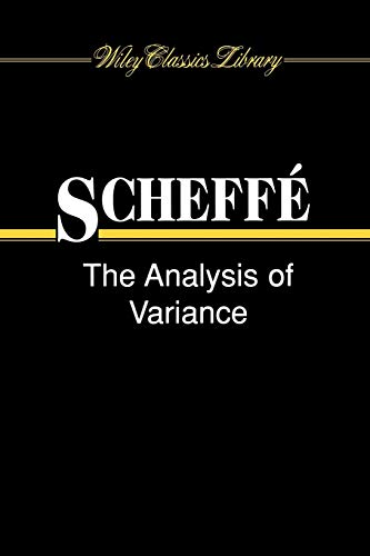 9780471345053: Analysis Variance WCL Paper (Wiley Classics Library)