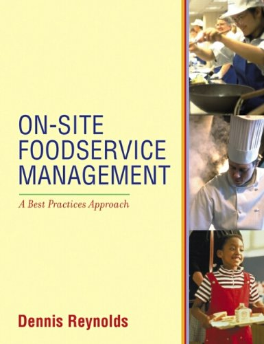 9780471345435: On-Site Foodservice Management: A Best Practices Approach
