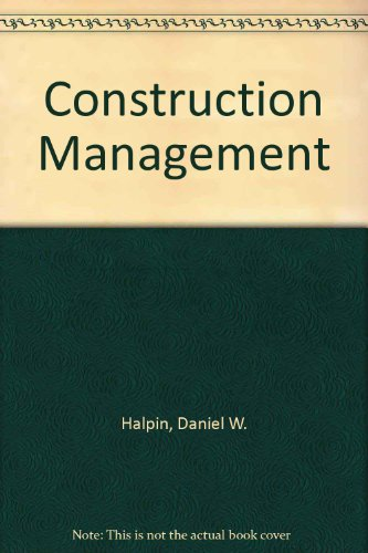 9780471345664: Construction Management
