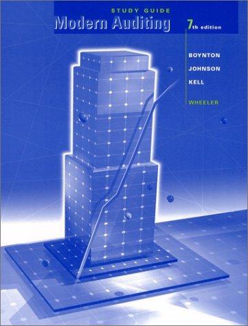 Modern Auditing: Walter G. Kell;