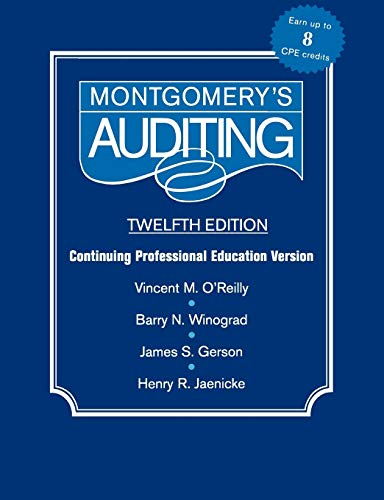 9780471346050: Montgomery Auditing Continuing Professional Education