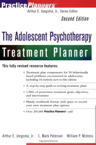 9780471347668: The Adolescent Psychotherapy Treatment Planner, 2nd Edition