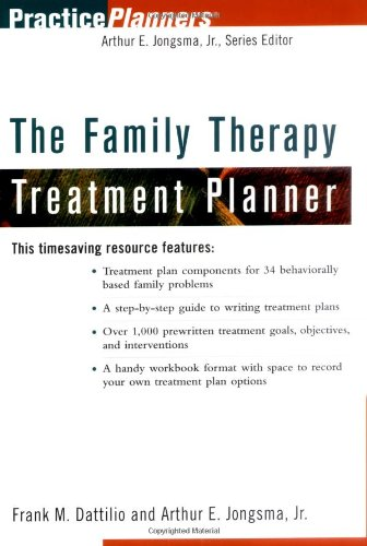 9780471347682: The Family Therapy Treatment Planner