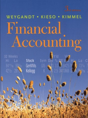 Financial Accounting, 3rd Edition: Jerry J. Weygandt,