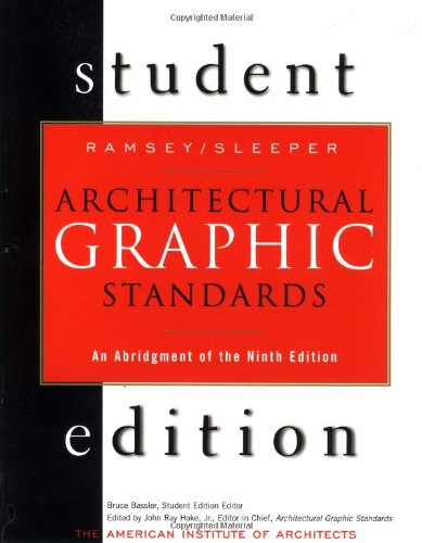 9780471348177: Architectural Graphic Standards Student Edition: An Abridgement of the 9th Edition