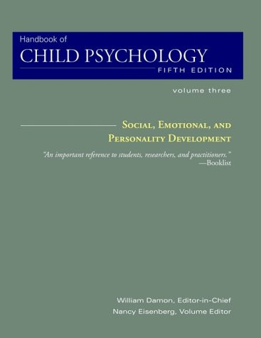 9780471349815: Social, Emotional, and Personality Development, Volume 3, Handbook of Child Psychology, 5th Edition