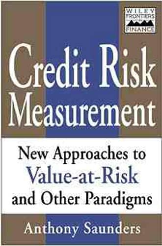 9780471350842: Credit Risk Measurement: New Approaches to Value at Risk and Other Paradigms, 1st Edition