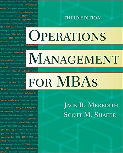9780471351429: Operations Management for MBAs