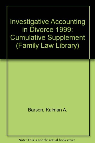 9780471351801: Investigative Accounting in Divorce