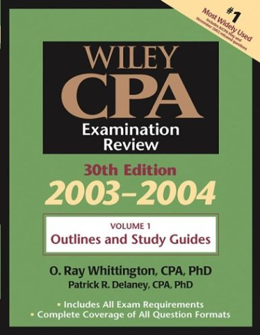 9780471352303: Wiley CPA Examination Review, Volume 1, Outlines and Study Guidelines, 30th Edition, 2003-2004