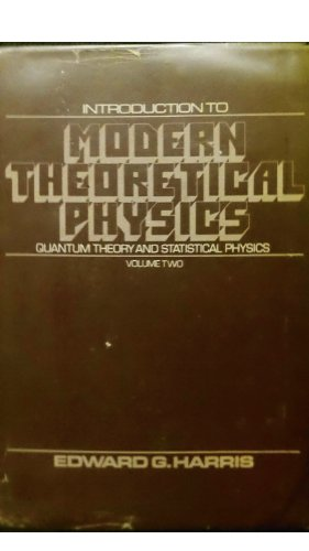 9780471353263: Introduction to Modern Theoretical Physics: Quantum Theory and Statistical Physics v. 2