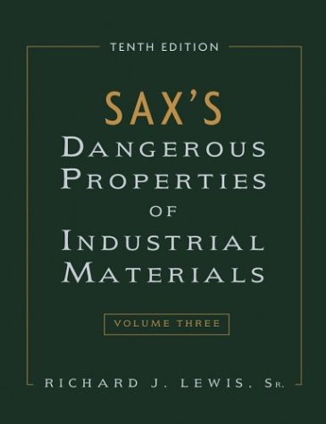 9780471354079: Sax's Dangerous Properties of Industrial Materials