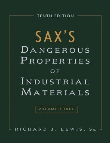 9780471354079: Sax's Dangerous Properties of Industrial Materials