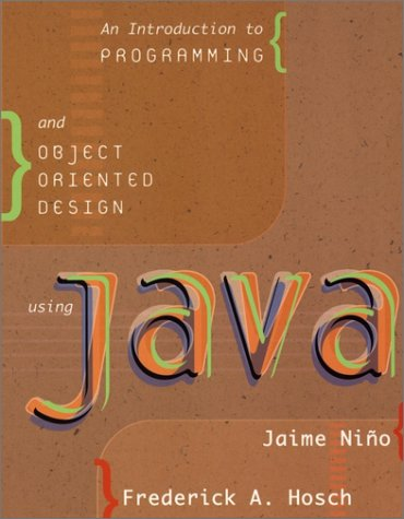 An Introduction to Programming and Object Oriented: Jaime Ni?o, Frederick