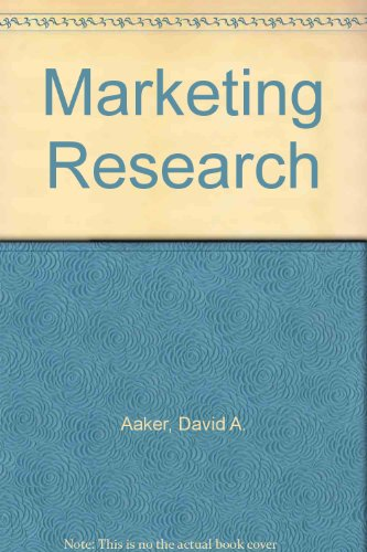 9780471355625: Marketing Research
