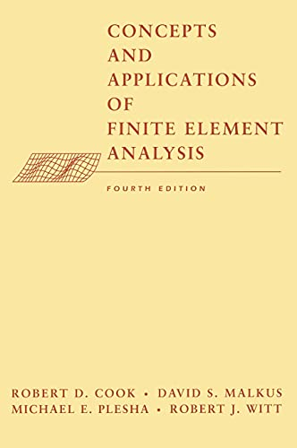 9780471356059: Concepts and Applications of Finite Element Analysis, 4th Edition