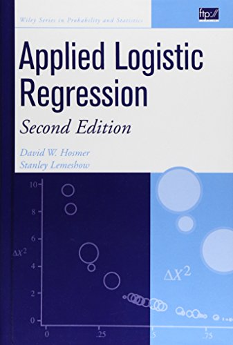 9780471356325: Applied Logistic Regression (Wiley Series in Probability and Statistics)