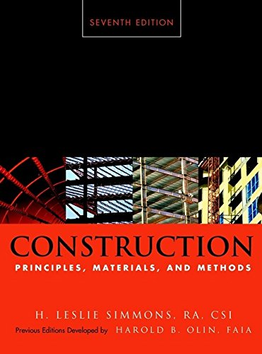 9780471356400: Construction Principles, Materials, and Methods