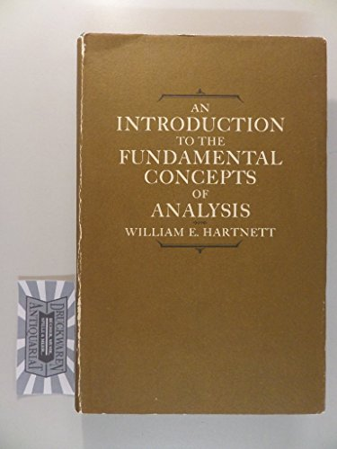 9780471356707: Introduction to the Fundamental Concepts of Analysis