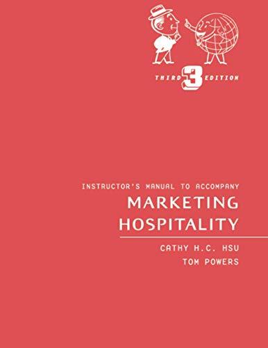9780471357377: Marketing Hospitality: Instructor's Manual
