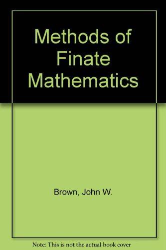 9780471359548: Methods of Finate Mathematics
