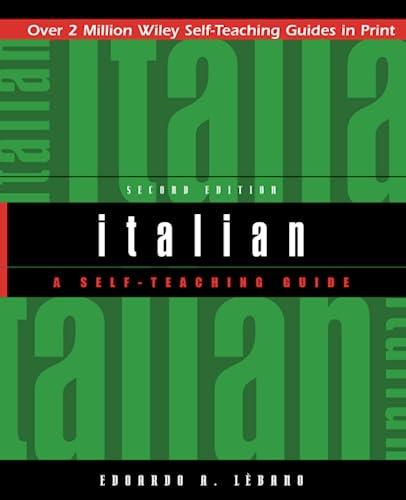 9780471359616: Italian: A Self-Teaching Guide