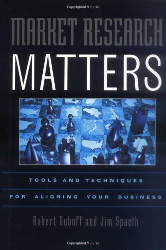 9780471360056: Market Research Matters: Tools and Techniques for Aligning Your Business