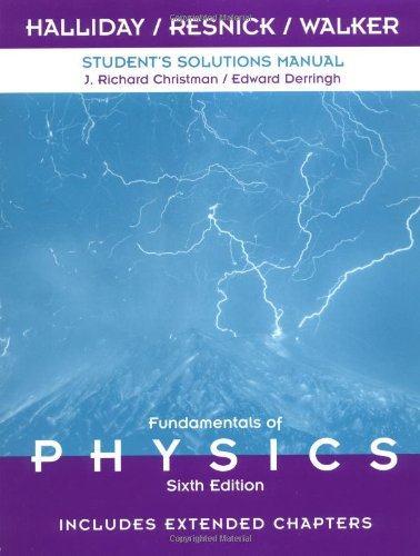 9780471360346: Student Solutions Manual to Accompany Fundamentals of Physics 6th Edition, Includes Extended Chapters