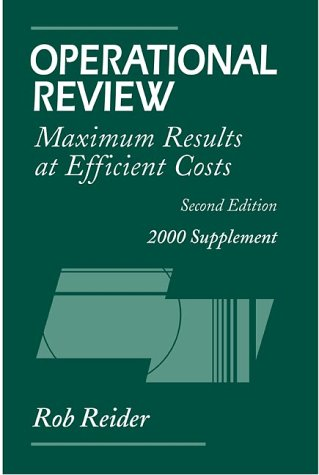 9780471361343: Operational Review: Maximum Results at Efficient Costs, 2000 Supplement, 2nd Edition